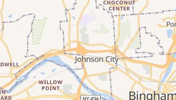 Johnson City, New York map