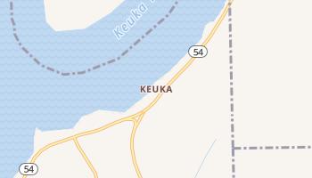 Keuka, New York map