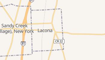 Lacona, New York map