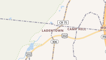 Ladentown, New York map