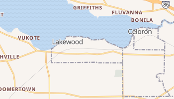 Lakewood, New York map