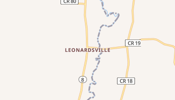 Leonardsville, New York map