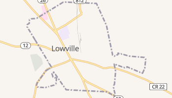 Lowville, New York map