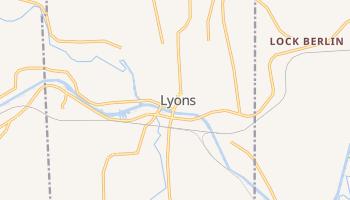 Lyons, New York map