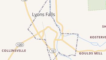 Lyons Falls, New York map