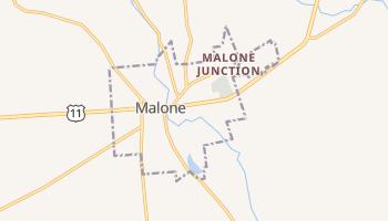 Malone, New York map