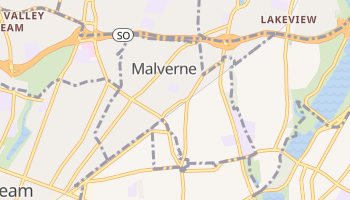 Malverne, New York map