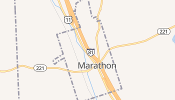 Marathon, New York map