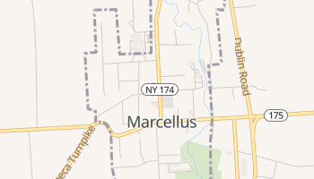 Marcellus, New York map