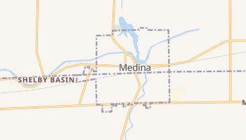 Medina, New York map