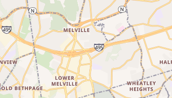 Melville, New York map
