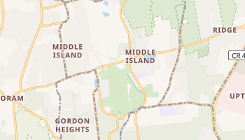 Middle Island, New York map