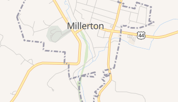 Millerton, New York map