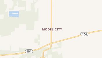 Model City, New York map