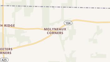 Molyneaux Corners, New York map