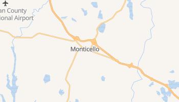 Monticello, New York map