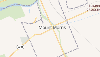 Mount Morris, New York map