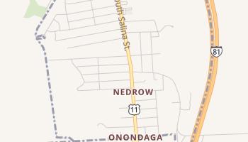 Nedrow, New York map