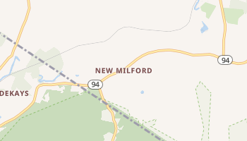New Milford, New York map