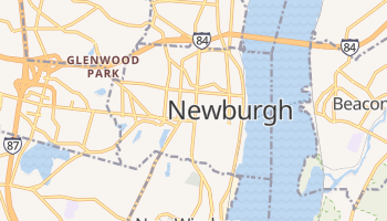 Newburgh, New York map