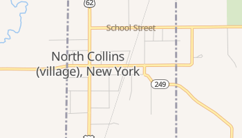 North Collins, New York map