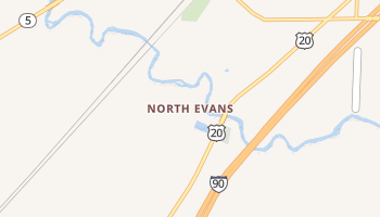 North Evans, New York map