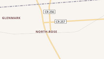 North Rose, New York map