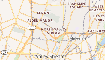 North Valley Stream, New York map