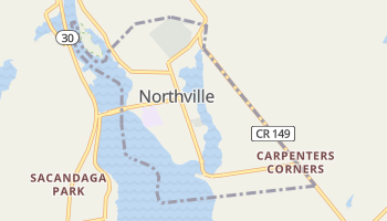 Northville, New York map
