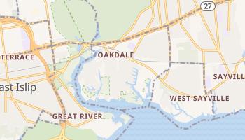 Oakdale, New York map