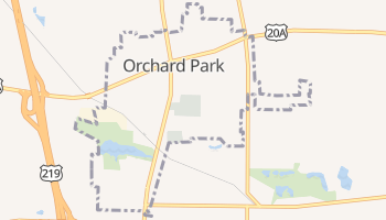Orchard Park, New York map