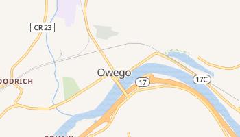 Owego, New York map