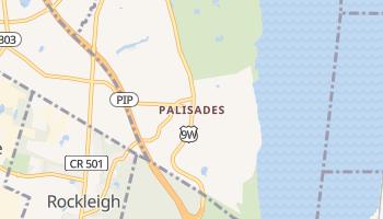 Palisades, New York map