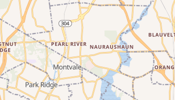 Pearl River, New York map
