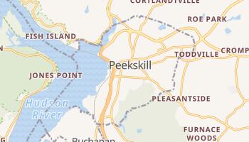 Peekskill, New York map