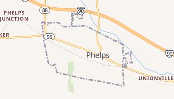 Phelps, New York map