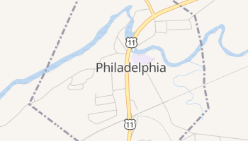 Philadelphia, New York map