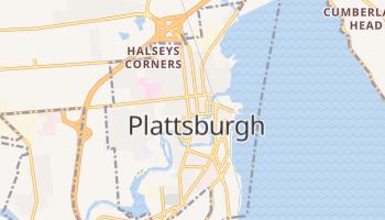 Plattsburgh, New York map