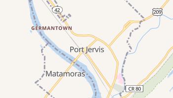 Port Jervis, New York map