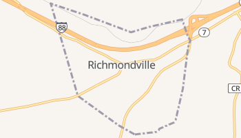 Richmondville, New York map