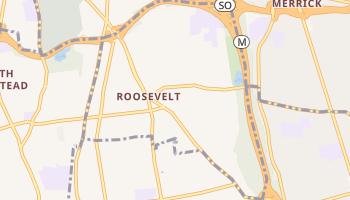 Roosevelt, New York map