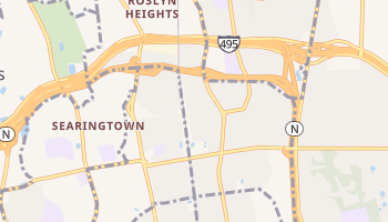 Roslyn Heights, New York map
