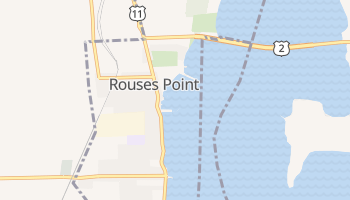 Rouses Point, New York map