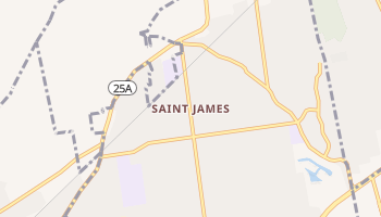 Saint James, New York map