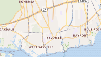 Sayville, New York map