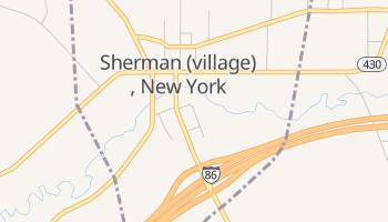 Sherman, New York map