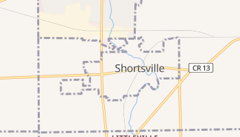 Shortsville, New York map