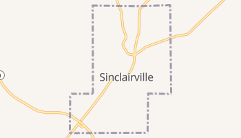 Sinclairville, New York map