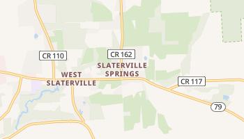 Slaterville Springs, New York map