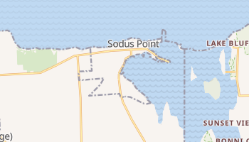 Sodus Point, New York map